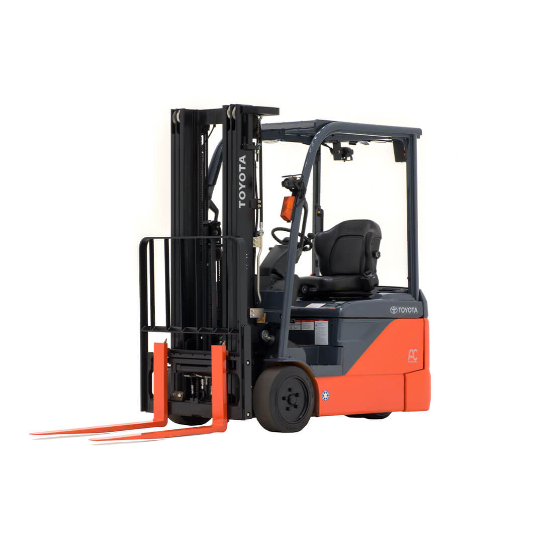 3-Wheel Electric Forklift side view 2