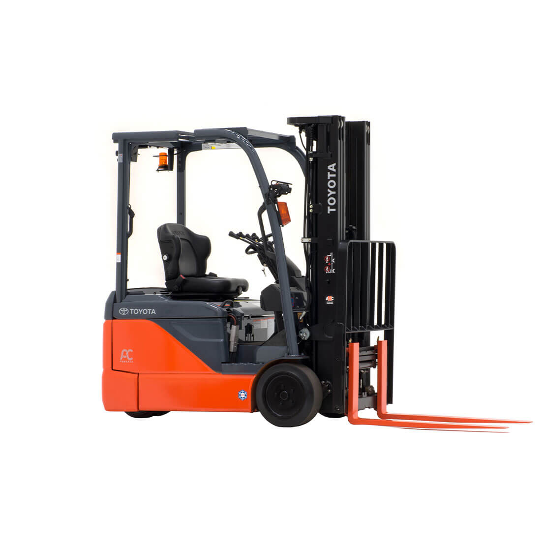 3-Wheel Electric Forklift side view 3