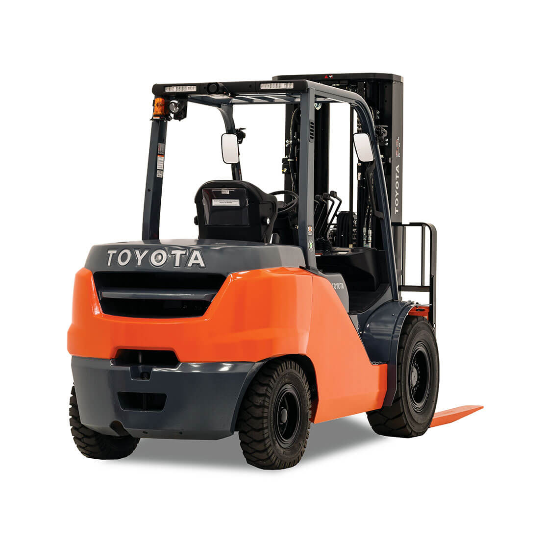 Mid IC Pneumatic forklift rear view 1