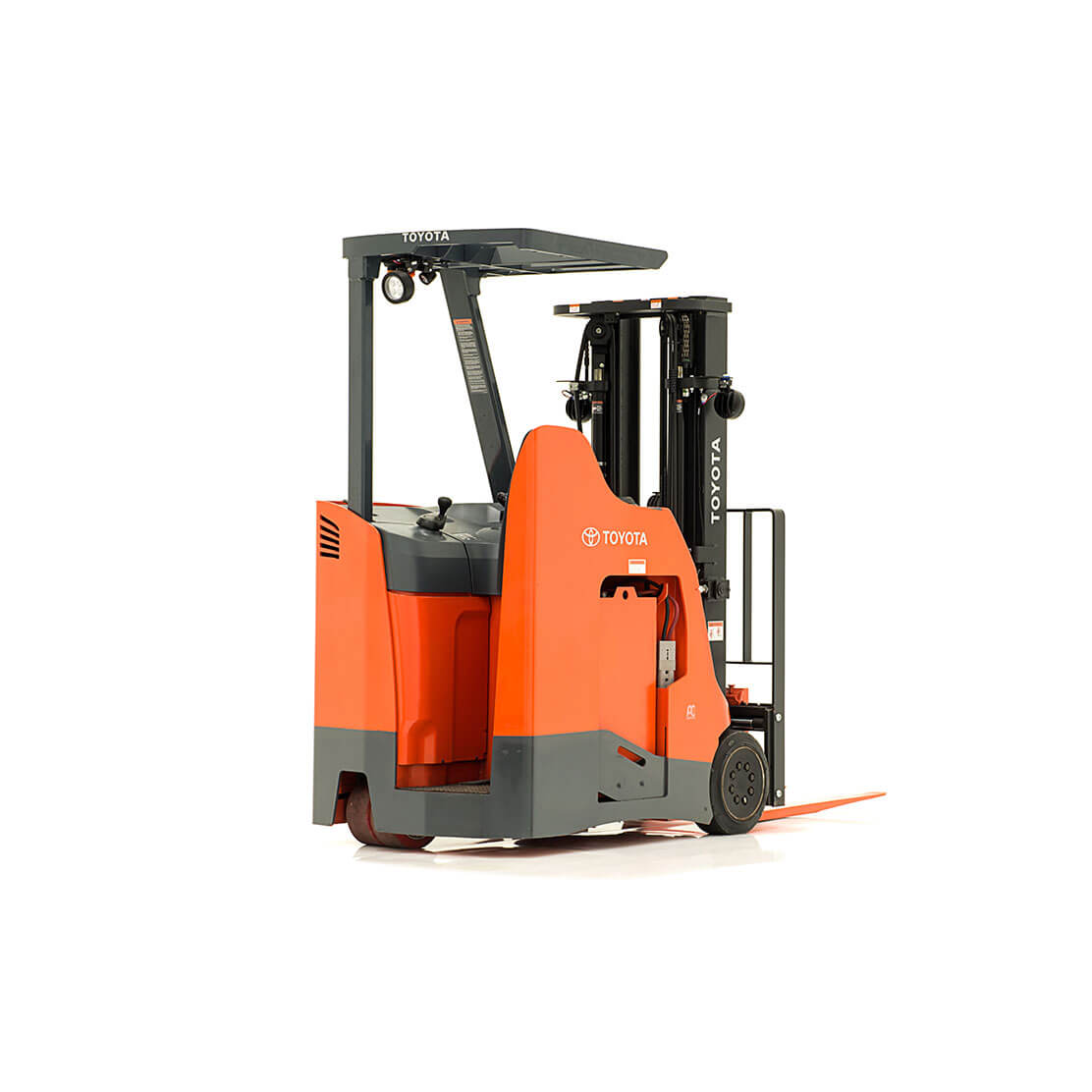 Stand-Up Rider Forklift rear view